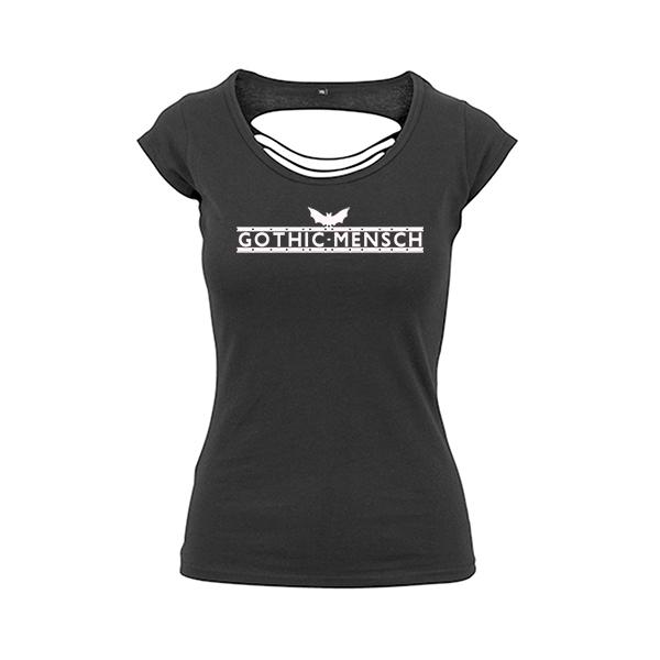 Gothic-Mensch Damen Back Cut schwarz