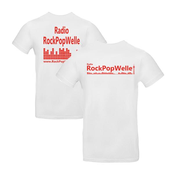 Rockpopwelle Herren Front-Back weiß