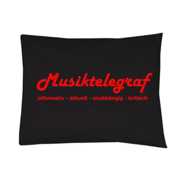 Musiktelegraf Kissen 30x50 schwarz