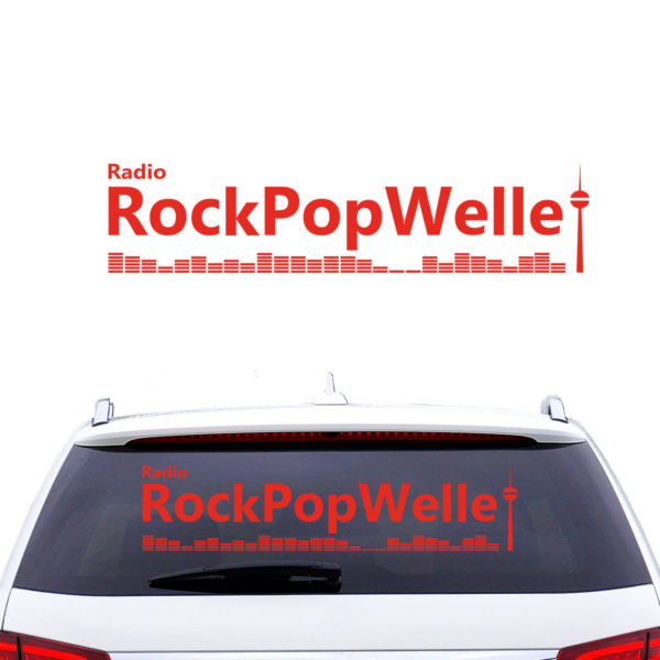 Rockpopwelle Autoaufkleber