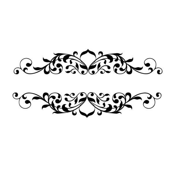 Wandtattoo für Lichtschalter/Steckdose Floral #1