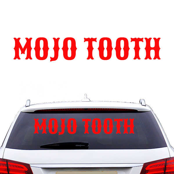 Mojo Tooth Autoaufkleber rot