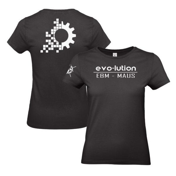 evo-lution Damen Shirt EBM-Maus